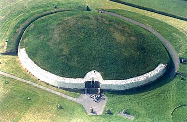 Aerial photograph of the passage tomb at Newgrange, County Meath1