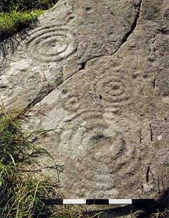 Example of a rock art panel in the townland of Aghacarrible, on the Dingle Peninsula, County Kerry