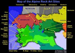 Map of the Alpine rock art (click to enlarge)
